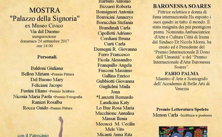 Spoleto Art Festival 2017  Baronessa Soares  e i suoi artisti di talento