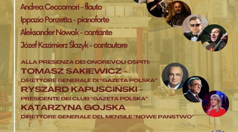 """Concerto Internazionale a Roma per l'apertura del """"Klub Gazety Polskiej"""""""